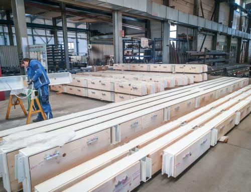 Stahlholz Deckenträger